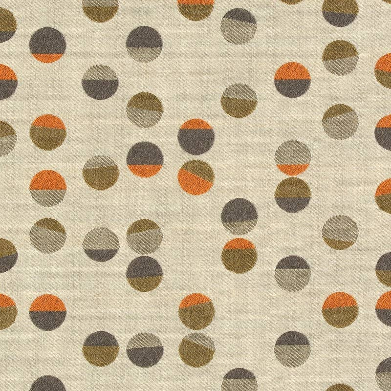 Textile sample from Maharam: Confetti by Hella Jongerius: Tangerine. MFR SKU: 466203-001 632429