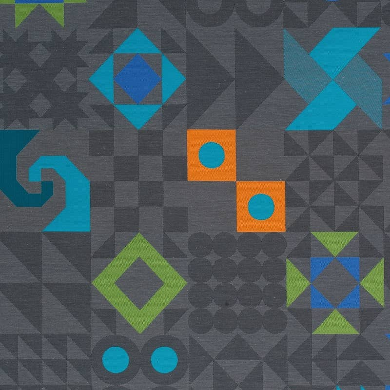 Textile sample from Maharam: Tangram: Lead. MFR SKU: 466084-003 636493