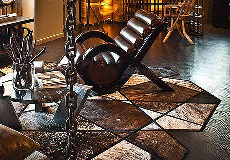 Leather Flooring
